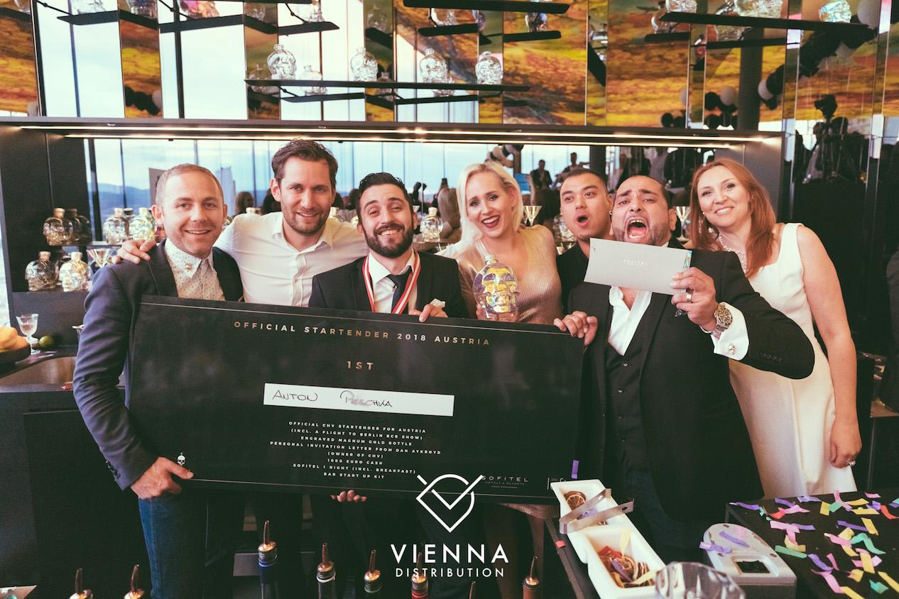 The winner at Crystal Head Vodka event